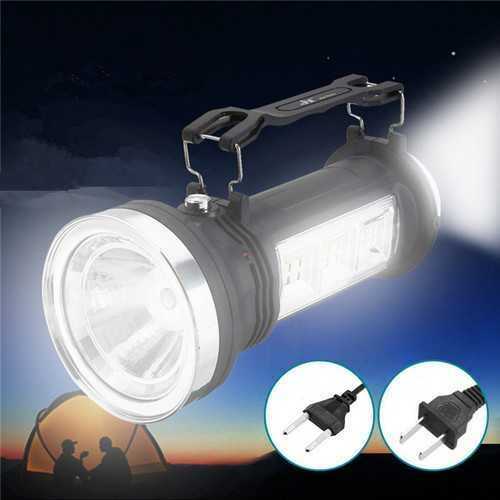 Solar Powered Portable LED Camping Light Lantern Rechargeable Outdoor Emergency Lamp AC110-240V