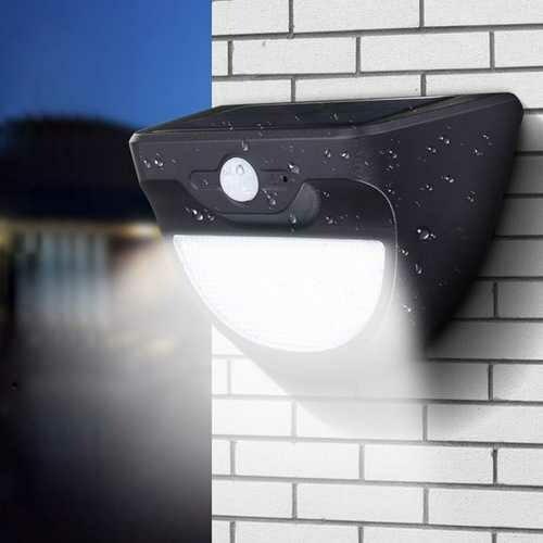 Solar Powered 37 LED Radar Sensor Wall Light Waterproof Outdoor Garden Security Lamp