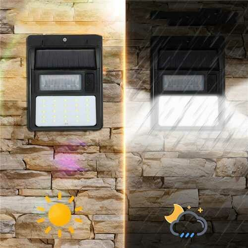 ARILUX AL-SL20 Solar 35 LED PIR Motion Sensor Light Waterproof Security Wall Lamp Street Outdoor