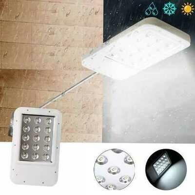 Ultrathin Solar Power 15 LED Light-controlled Wall Street Light Waterproof Outdoor Garden Lamp