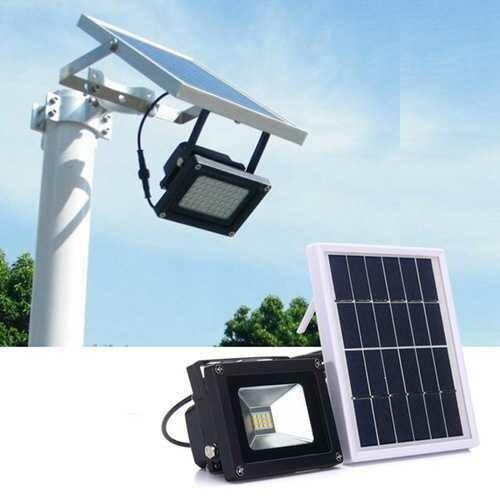 Solar Powered 12 LED Light Sensor Flood Lamp Outdoor Garden Waterproof Security