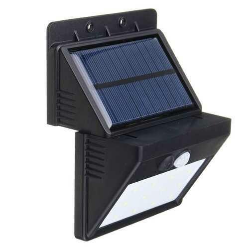 Waterproof 12LED Solar Light PIR Motion Sensor Wall Lamp Outdoor Energy Saving Street Yard Path