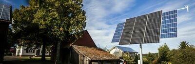 myCleantechSolarTracker™ - frei stehende der Sonne nachgeführte komplette Solar Anlage zur Strom- / Energieerzeugung