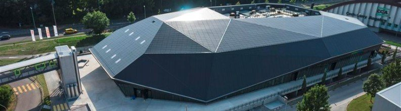 myCleantechSolarPower™ is inspirited on the concept and idea of: Solar facade of the Spreitenbach environmental arena (Umweltarena) near Zurich Switzerland www.umweltarena.ch (c) - Musterbild