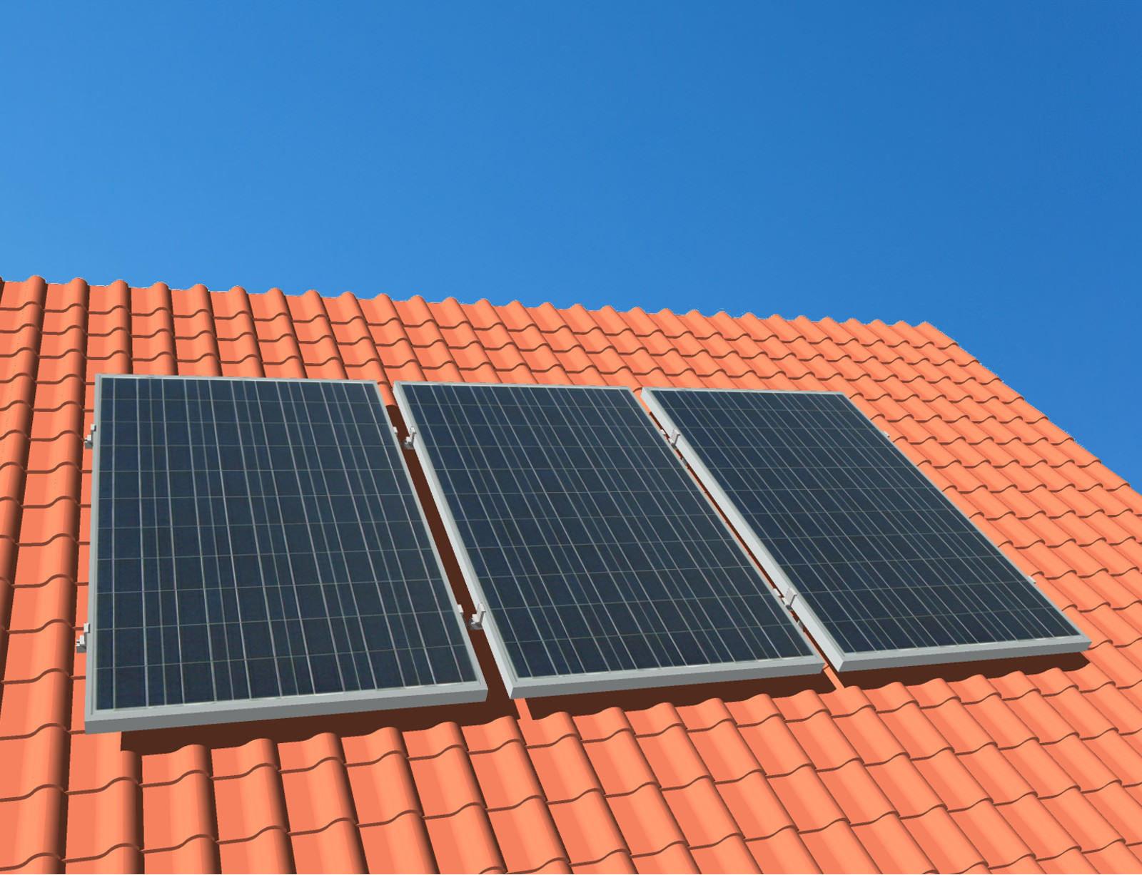 myCleantechSolarPower™ Solaranalage Schrägdach mit 3 Pannels - Musterbild