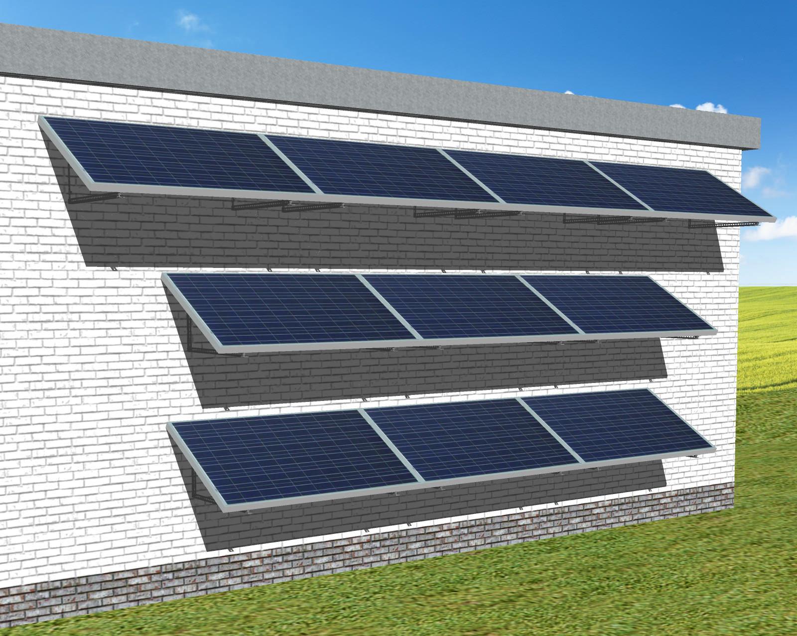 myCleantechSolarPower™ Solaranalage Fassade oder Carport mit 10 Pannels - Musterbild