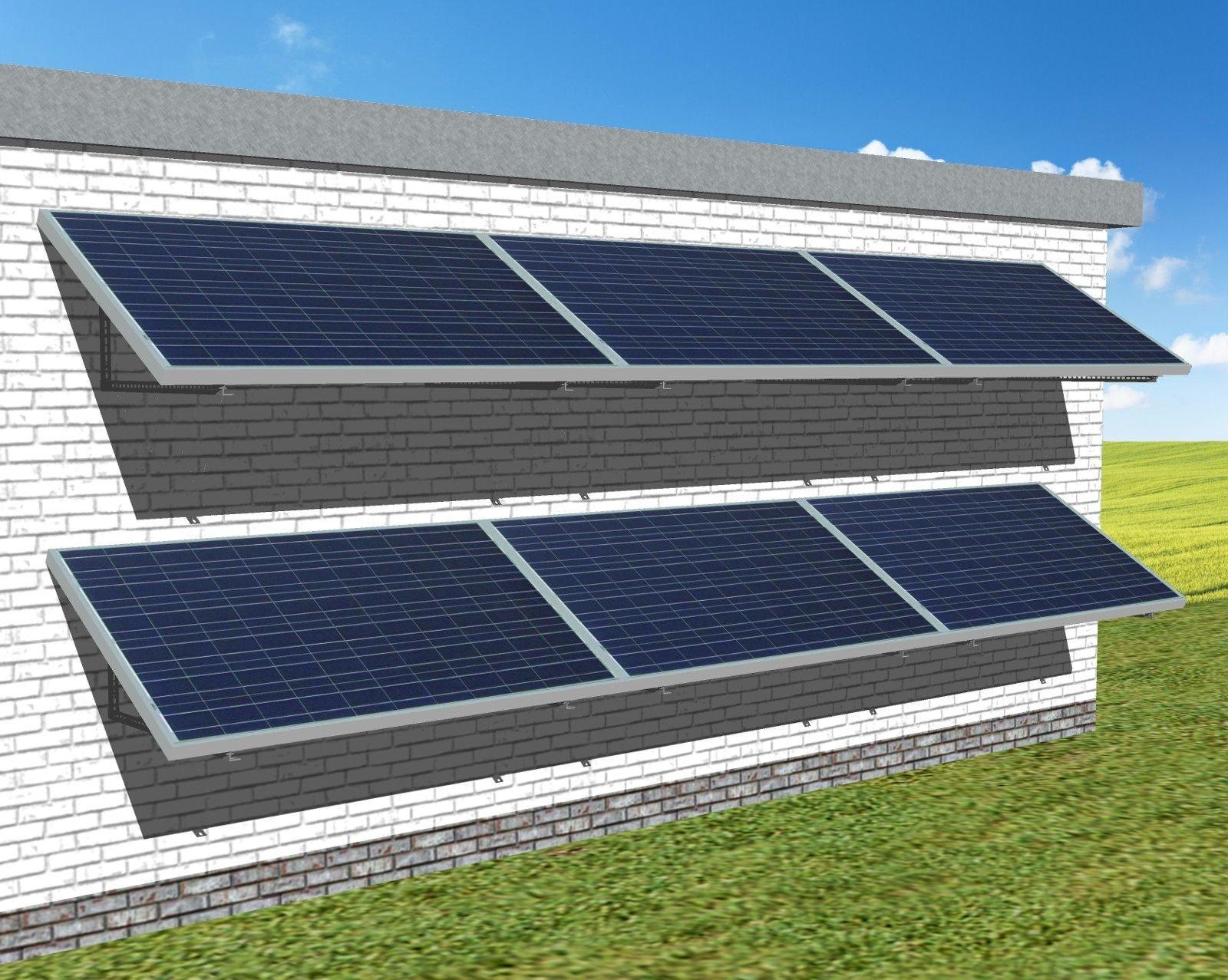 myCleantechSolarPower™ Solaranalage Fassade oder Carport mit 6 Pannels - Musterbild