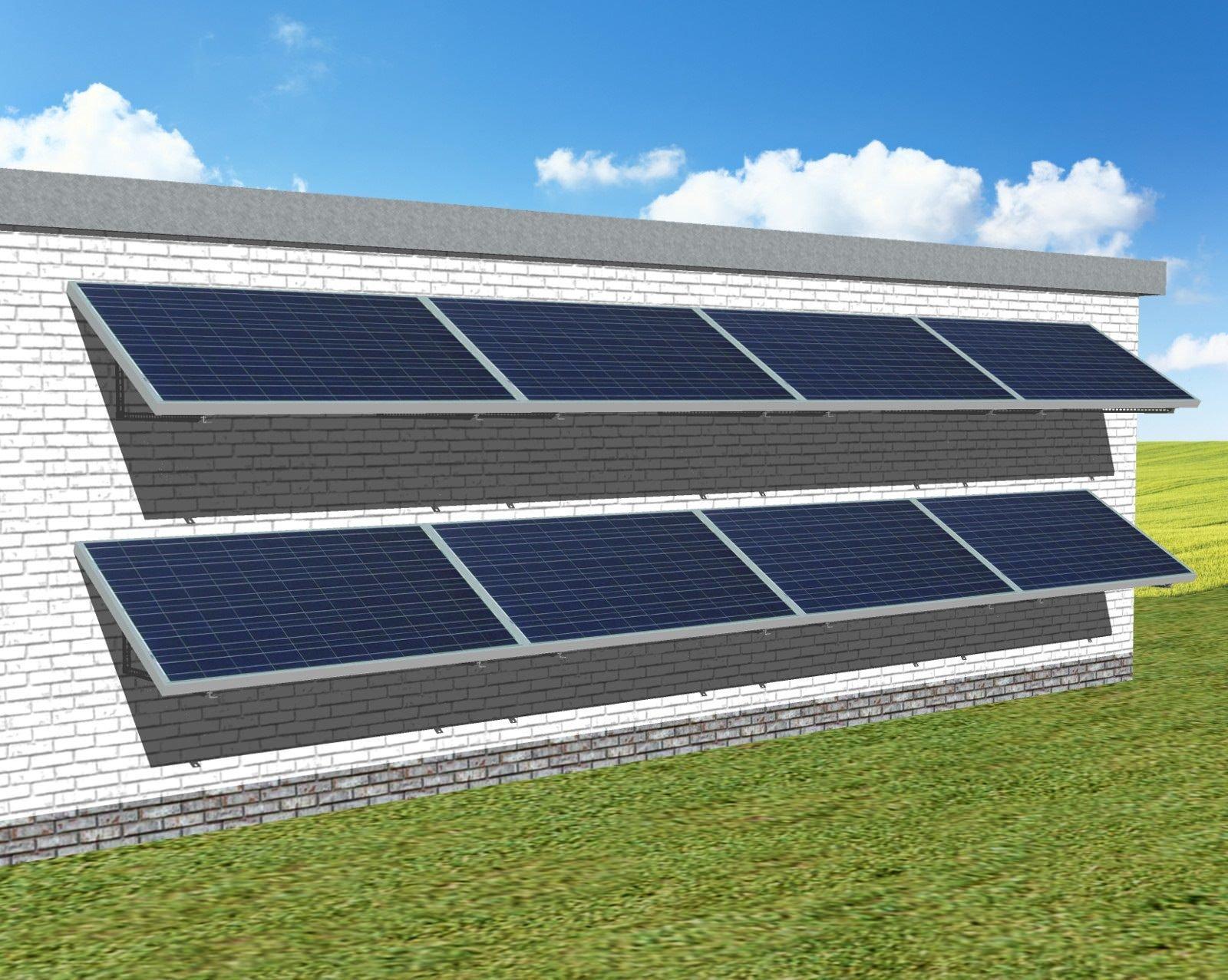 myCleantechSolarPower™ Solaranalage Fassade oder Carport mit 8 Pannels - Musterbild