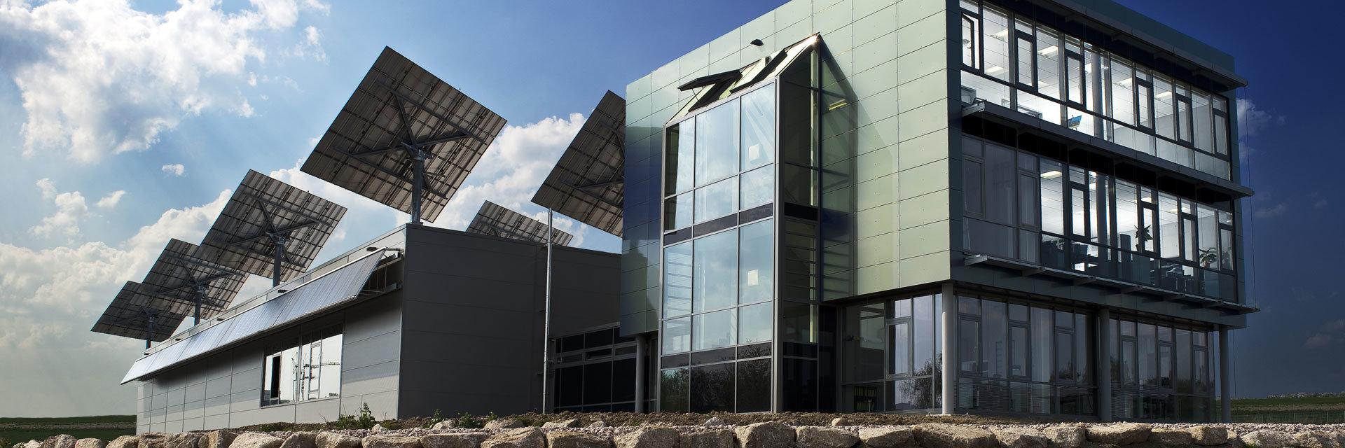 myCleantechSolarTracker™ Solaranalage - Bürobebäude