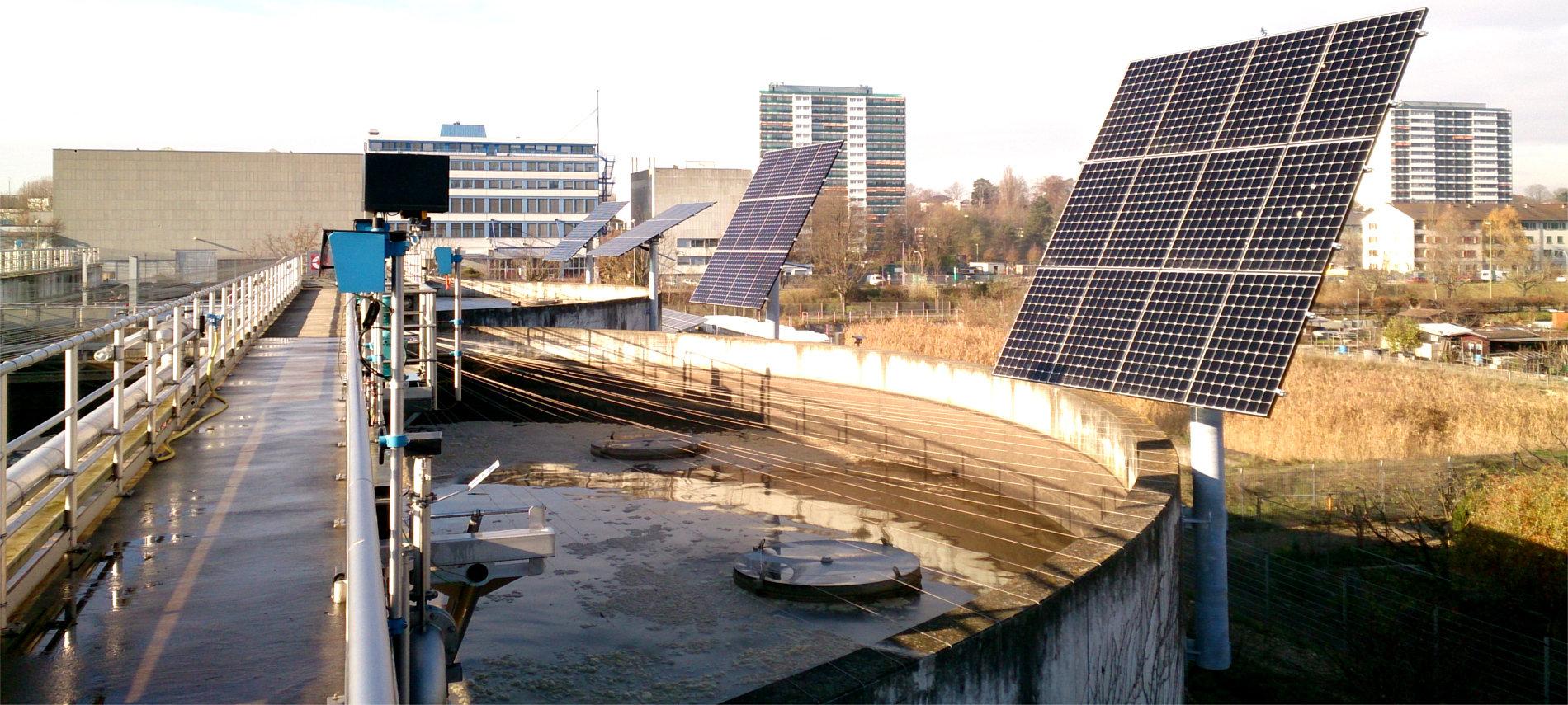 myCleantechSolarTracker™ Solaranalage - Kläranlage in der Schweiz