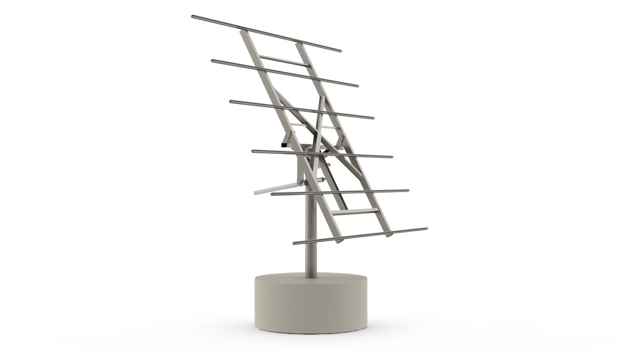 myCleantechSolarTracker™ Solaranalage - System 40 m2 - Betonsockel