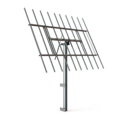 myCleantechSolarTracker™ Solaranalage - System 52 m2 - Hausintegriert