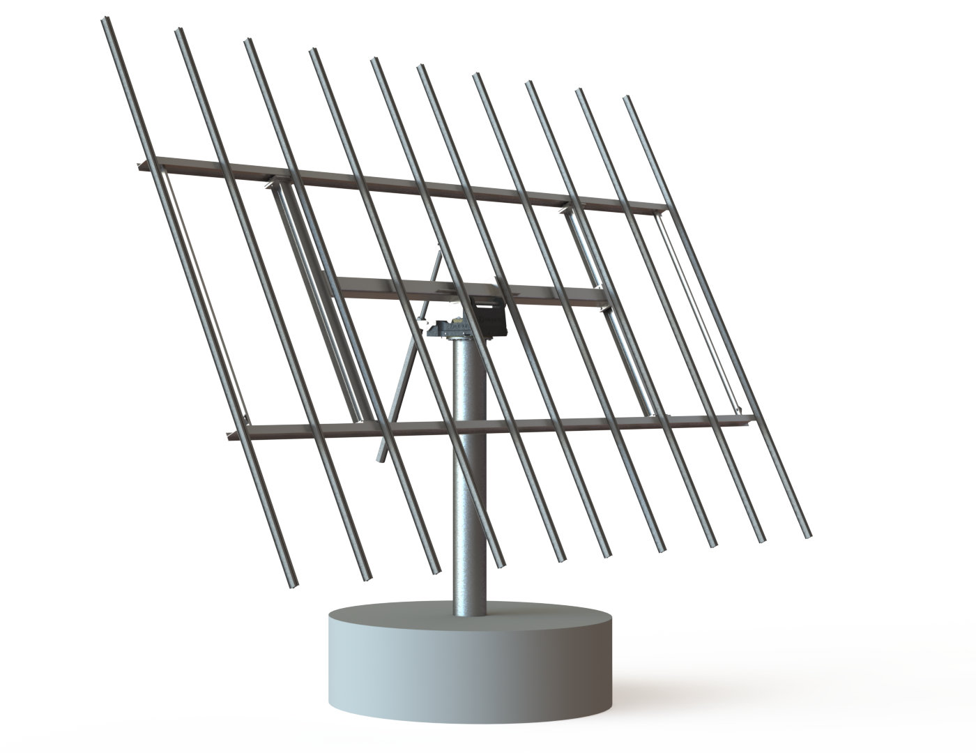 myCleantechSolarTracker™ Solaranalage - System 52 m2 - Betonsockel