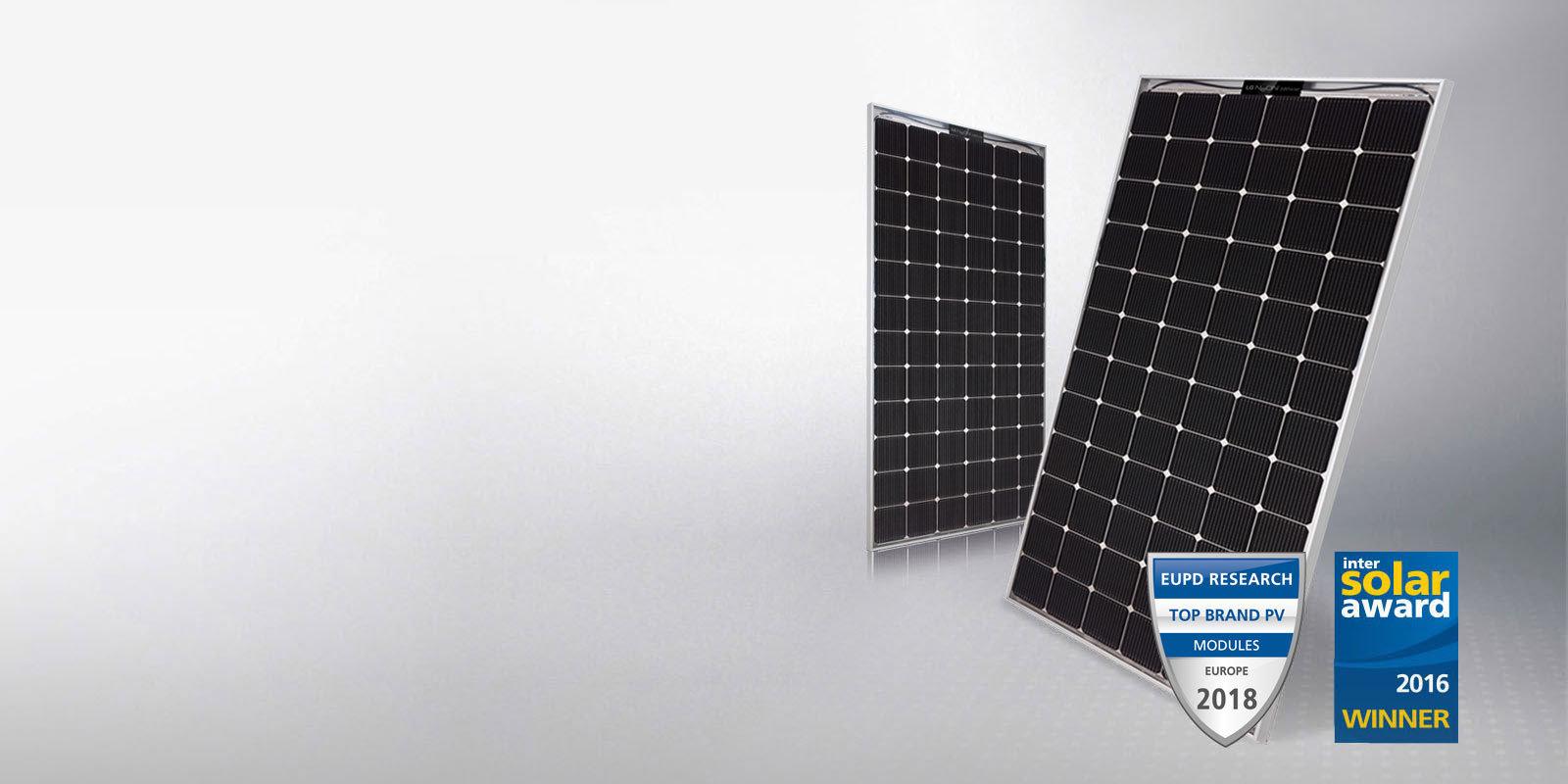 myCleantechSolarPower™ - LG Solarpannel NeON2 bifacial Typ (C) - Musterbild