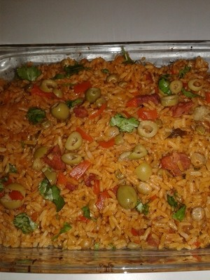 Arroz con Gandules (20 personas)/ Rice with Pigeon Peas (20 people)