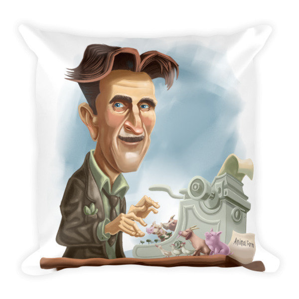 George Orwell Square Pillow