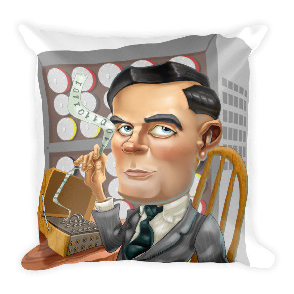 Alan Turing Square Pillow