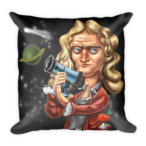 Isaac Newton Square Pillow