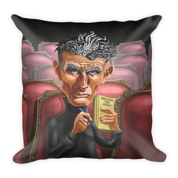 Samuel Beckett Square Pillow