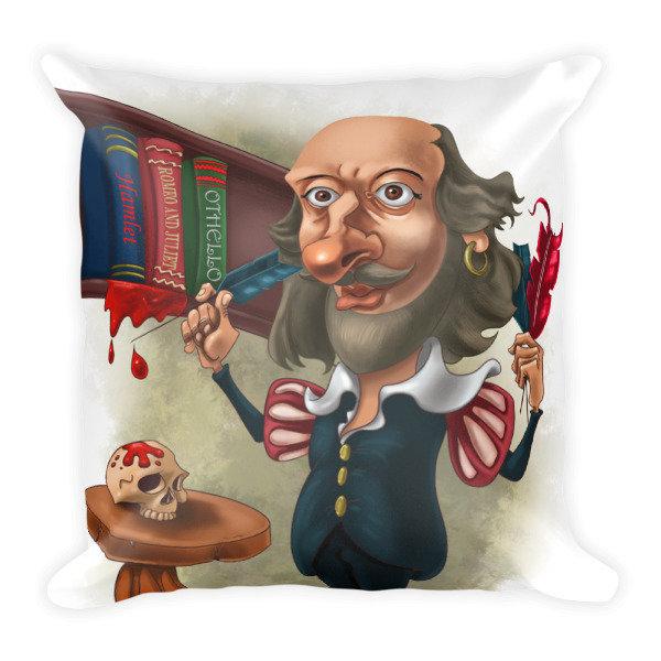 William Shakespeare Square Pillow