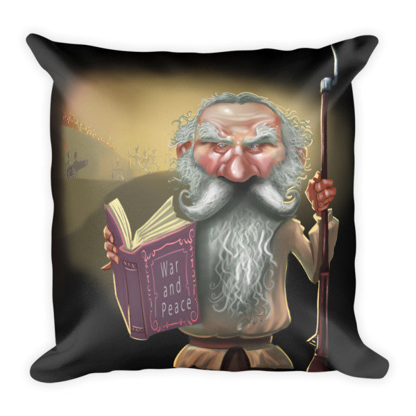Leo Tolstoy Square Pillow