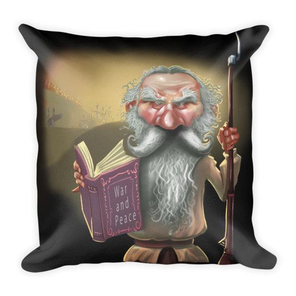 Leo Tolstoy Square Pillow