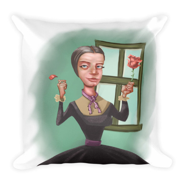 Emily Dickinson Square Pillow 16679