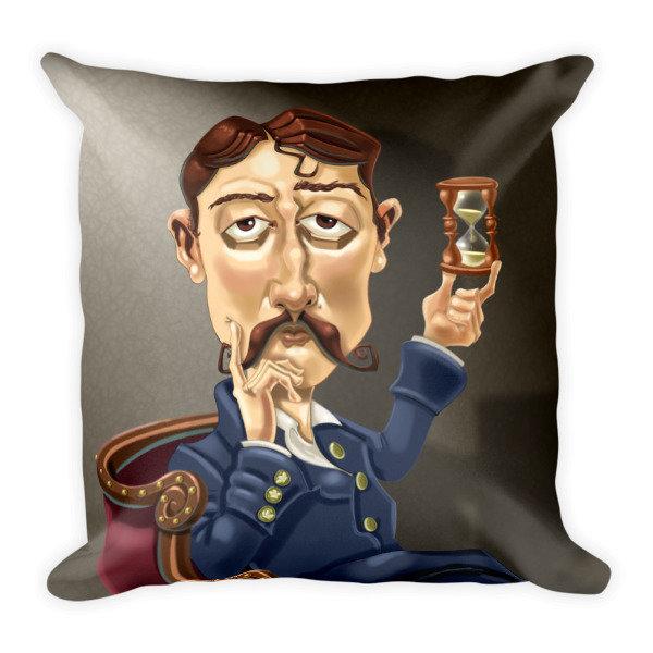 Marcel Proust Square Pillow