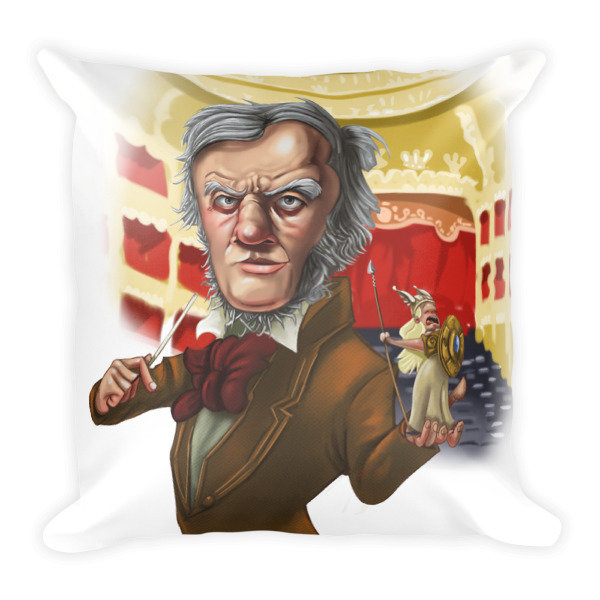 Richard Wagner Square Pillow