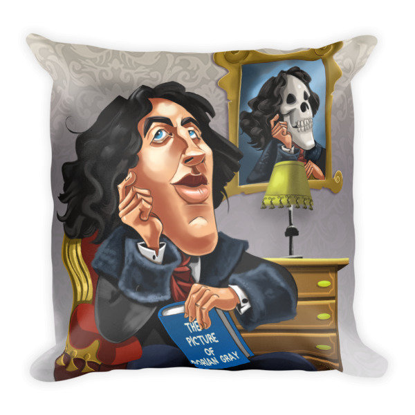 Oscar Wilde Square Pillow