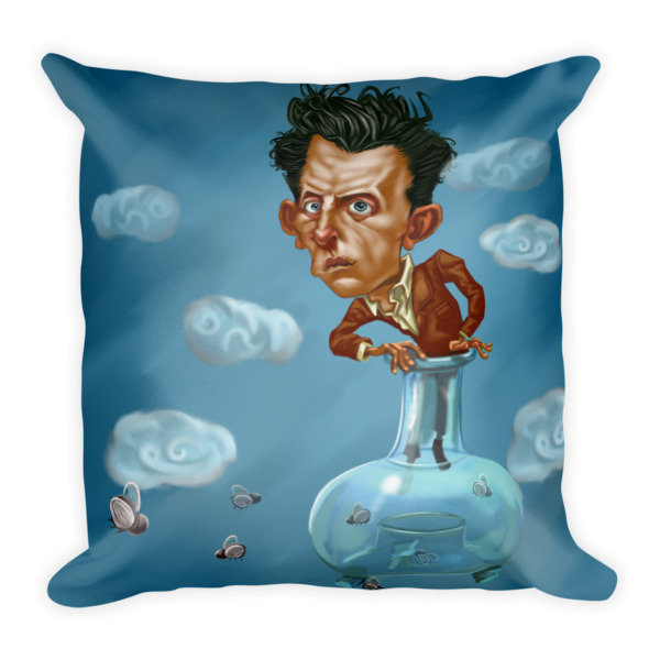 Ludwig Wittgenstein Square Pillow