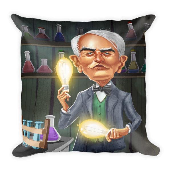 Thomas Edison Square Pillow