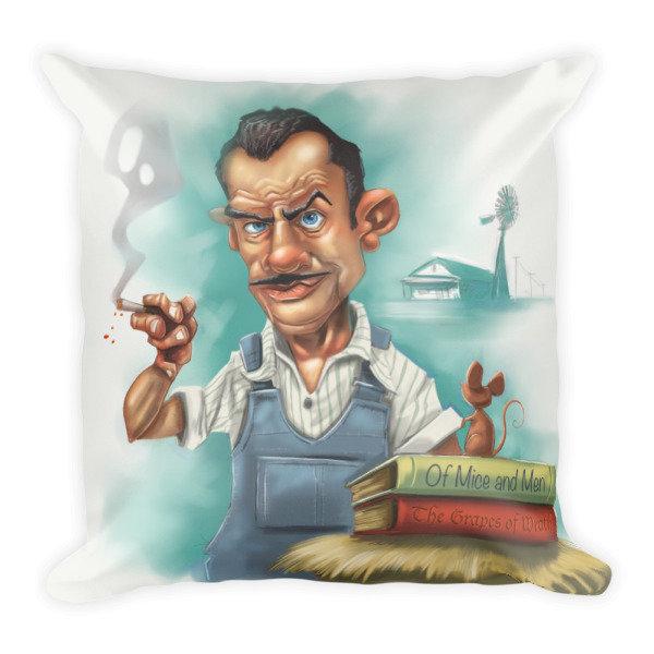 John Steinbeck Square Pillow