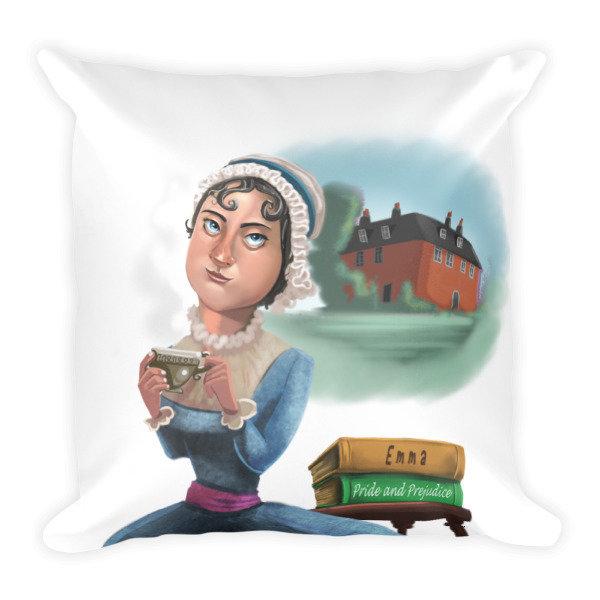 Jane Austen Square Pillow