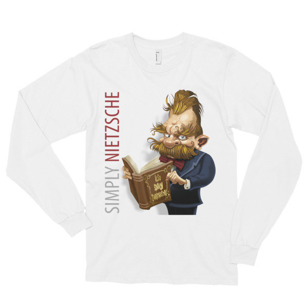 Simply Nietzsche Long Sleeve T-Shirt (unisex) 16746