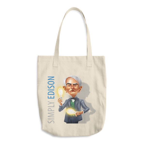 Simply Edison Cotton Tote Bag