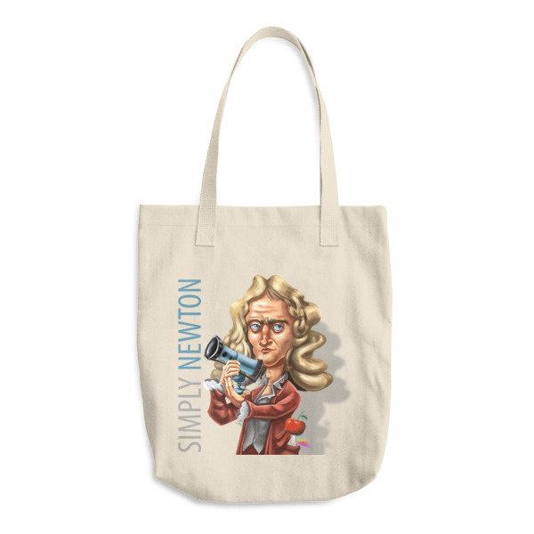 Simply Newton Cotton Tote Bag