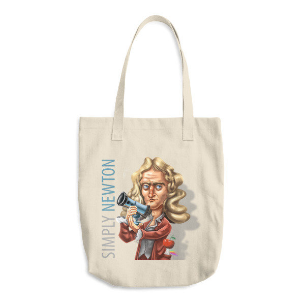 Simply Newton Cotton Tote Bag