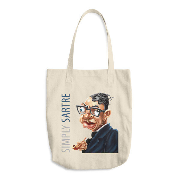 Simply Sartre Cotton Tote Bag