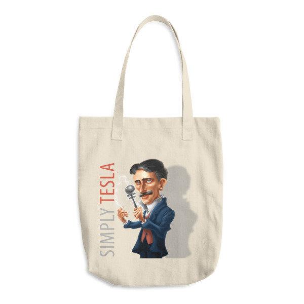 Simply Tesla Cotton Tote Bag