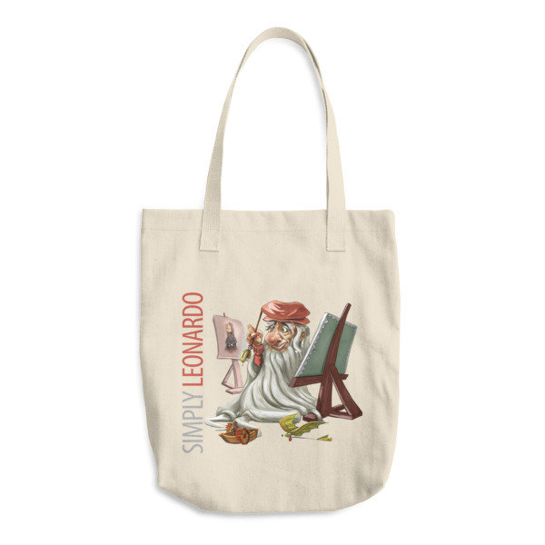 Simply Leonardo Cotton Tote Bag