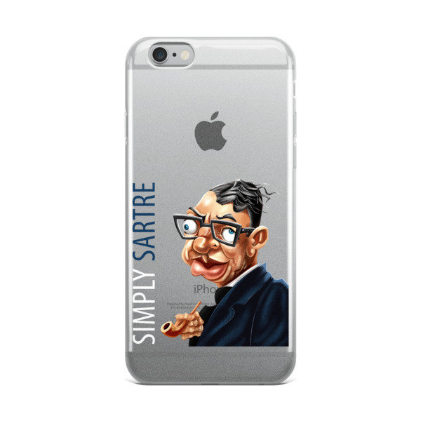 Simply Sartre iPhone Case