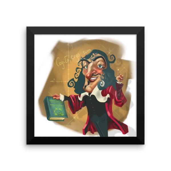 René Descartes Framed poster