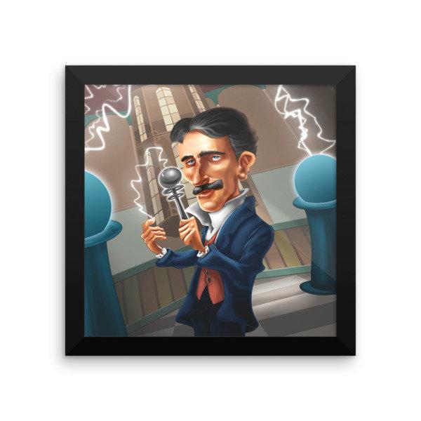 Nikola Tesla Framed poster 16922