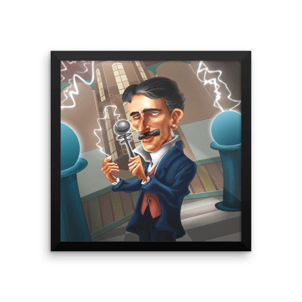 Nikola Tesla Framed poster