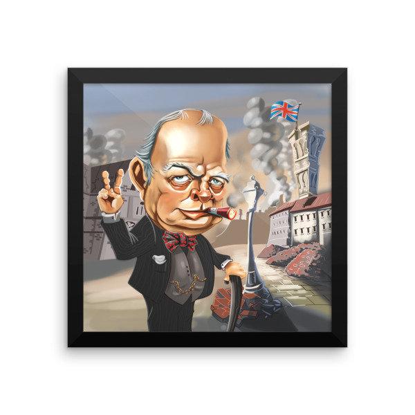 Winston Churchill Framed poster