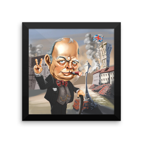 Winston Churchill Framed poster