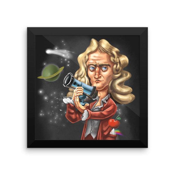 Isaac Newton Framed poster