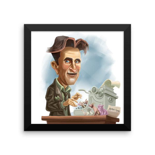 George Orwell Framed poster 16935