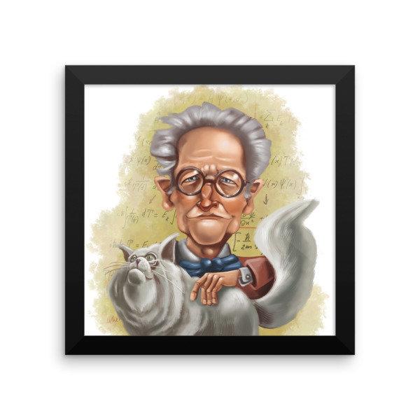 Erwin Schrödinger Framed poster